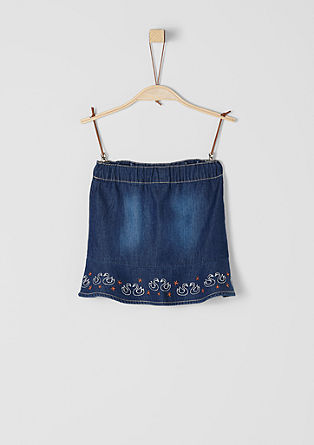 Embroidered denim skirt from s.Oliver