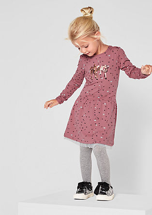 Obleka iz džersija z bleščicami
