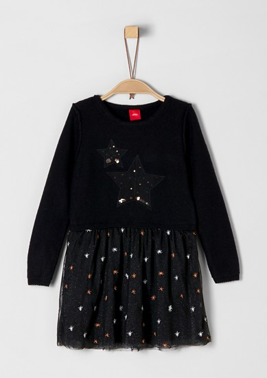 Dress with a glitter tulle skirt from s.Oliver