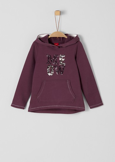Hoodie with sequin artwork from s.Oliver