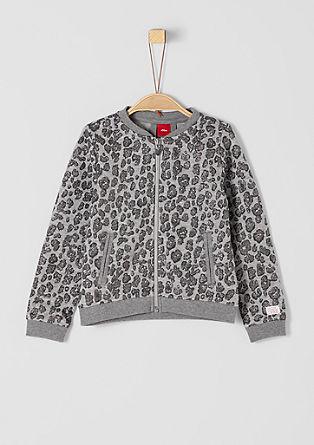 Sweatshirt jopa z leopardjim vzorcem