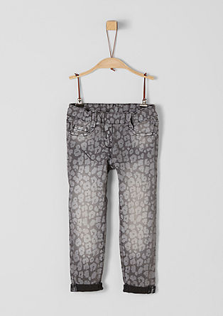 Treggings: Warme Denim mit Print