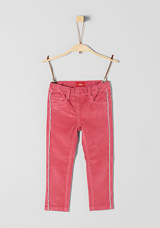 Treggings: Corduroy trousers with glitter stripes from s.Oliver