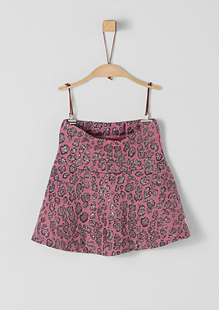 High-waisted skirt with a glittering print from s.Oliver