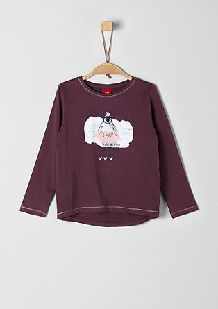 Long sleeve top with a penguin artwork from s.Oliver