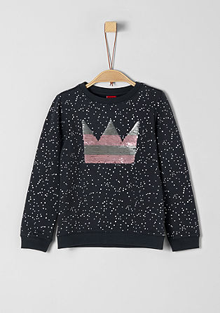 Sweatshirt with reversible sequins from s.Oliver