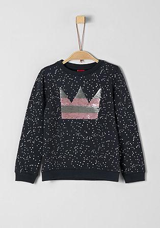 Sweatshirt mit Wendepailletten