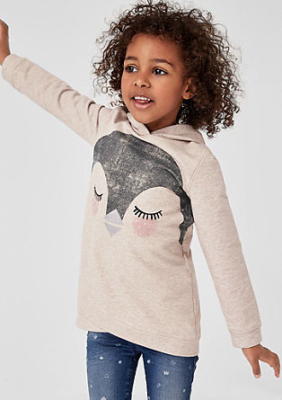 Sweatshirt mit Pinguin-Motiv