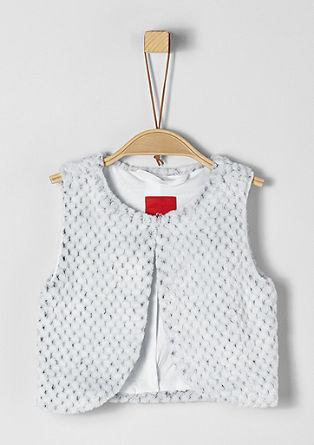 Cosy plush waistcoat from s.Oliver