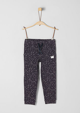 Tracksuit bottoms with a glitter print from s.Oliver