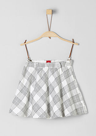 Checked flannel skirt with a metallic effect from s.Oliver
