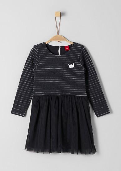 Gebreide jurk met rok van tule