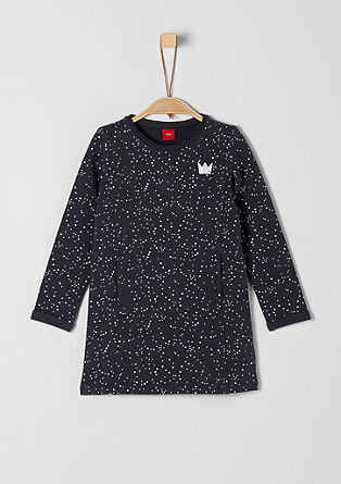 Sweatshirt dress with sparkly dots from s.Oliver