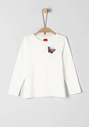 Long sleeve top with butterfly from s.Oliver