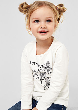 Long sleeve top with a butterfly print from s.Oliver