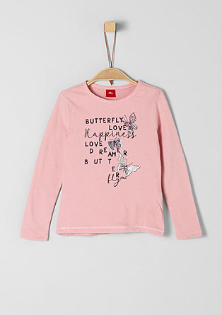 Long sleeve top with butterflies from s.Oliver