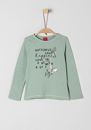 Longsleeve mit Butterfly-Print