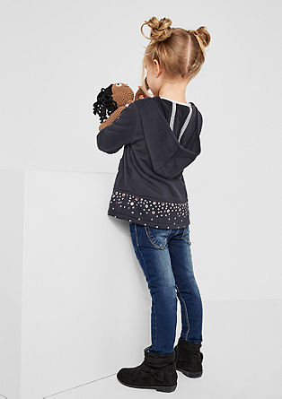 Sweatshirt jacket with glitter appliqué from s.Oliver