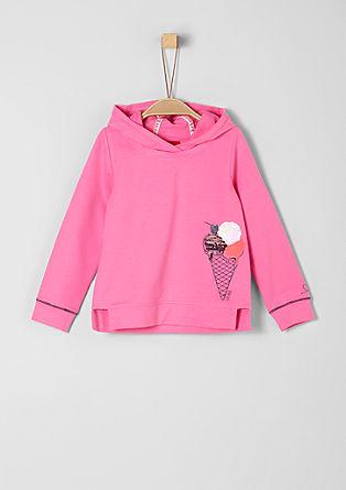 Sweatshirt mit Motiv-Print