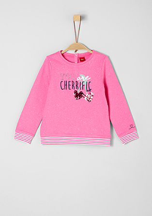 Sweatshirt with glitter artwork from s.Oliver