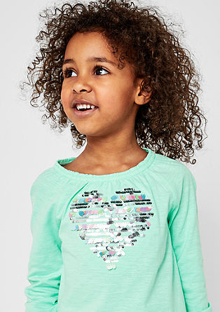 Long sleeve top with sequins from s.Oliver