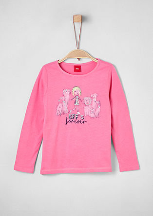Longsleeve mit Illustration