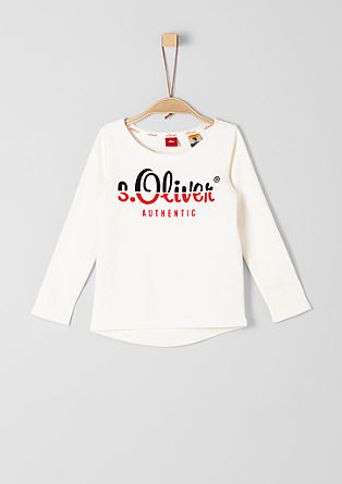Sweatshirt met labelprint