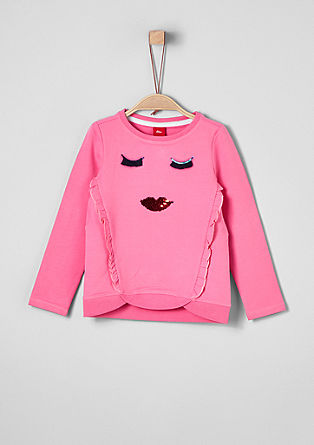 Sweatshirt met applicaties