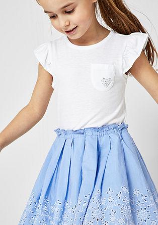 Kleid im Fabric Mix