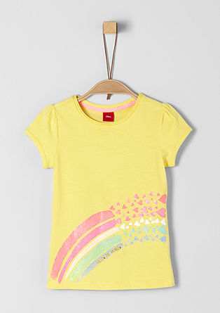 T-shirt met glinsterend artwork