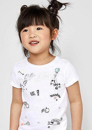 Printshirt mit Glanz-Details