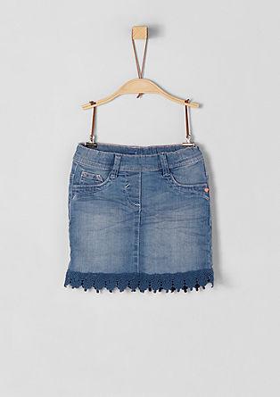 Denim rok met kant