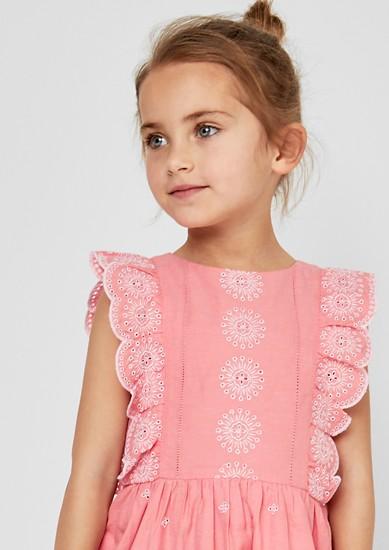 Kleid mit Lochmuster-Stickerei
