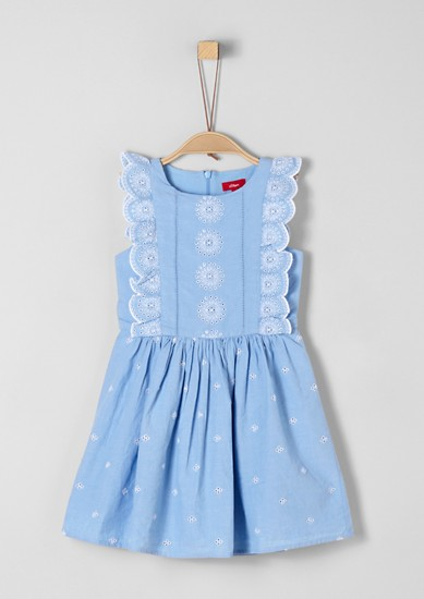 Dress with broderie anglaise from s.Oliver
