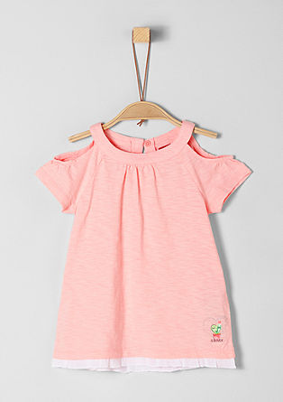 Tričko z žíhané příze s rýšky