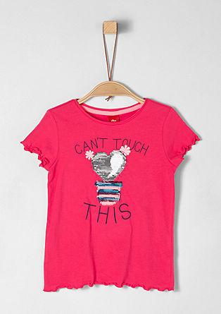 Majica iz džersija z dvostranskimi bleščicami