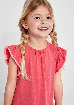 Jerseykleid mit Pompon-Details