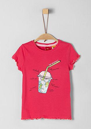 tričko s potiskem s rýšky na lemu