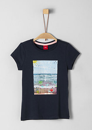 T-shirt with a beach print from s.Oliver