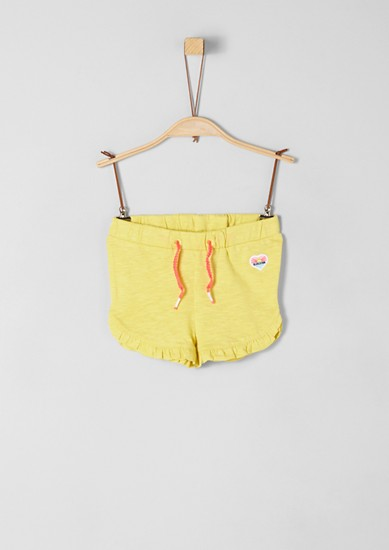 Jersey shorts with ruffles from s.Oliver