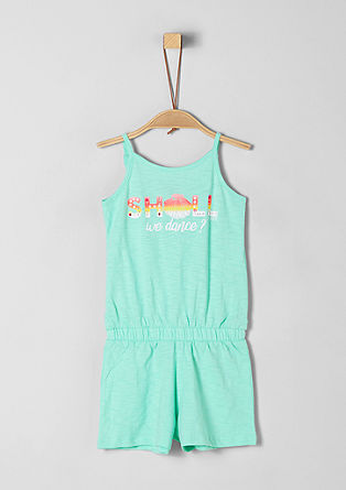 Jersey jumpsuit met artwork