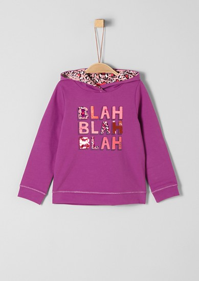 Sweatshirt with lettering from s.Oliver