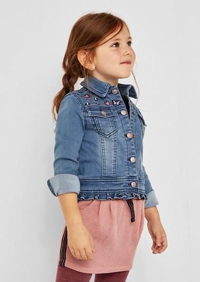 Jeans jakna z vezenino