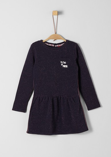 Sweatshirt dress with a glitter effect from s.Oliver