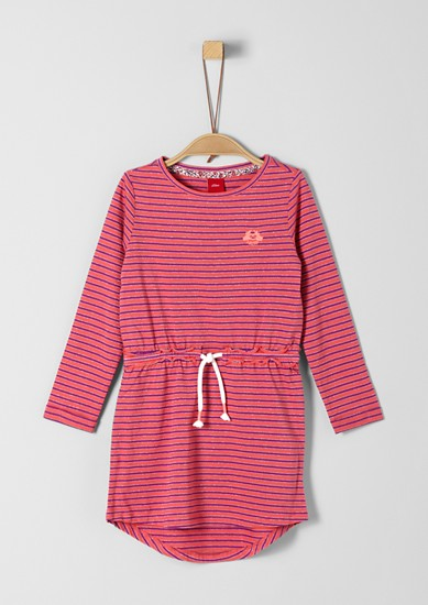 Jersey dress with glitter stripes from s.Oliver