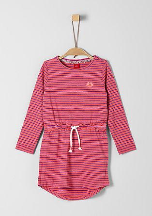 Jerseykleid mit Glitzerstreifen