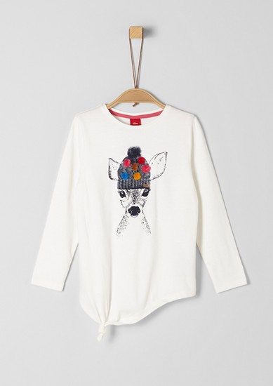 T-shirt à manches longues et motif artistique de s.Oliver