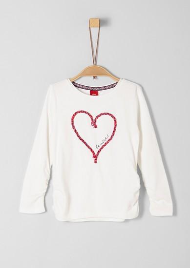 Tričko sdlouhým rukávem amotivem srdce