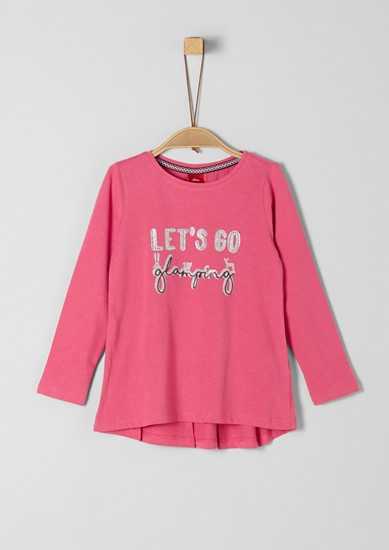 Long sleeve top with glitter lettering from s.Oliver