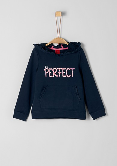Sweatshirt with a frilled edge from s.Oliver